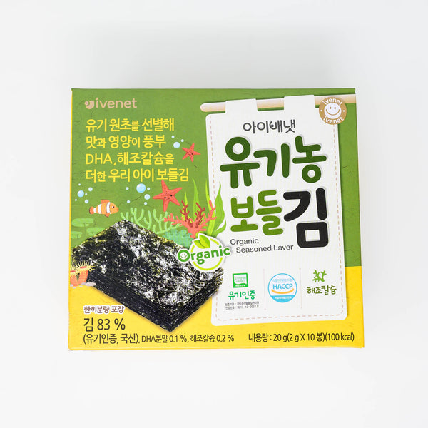 아이배냇 유기농 보들김 - ORGANIC SEASONED LAVER SEAWEED SNACK (2g X 10 packs)