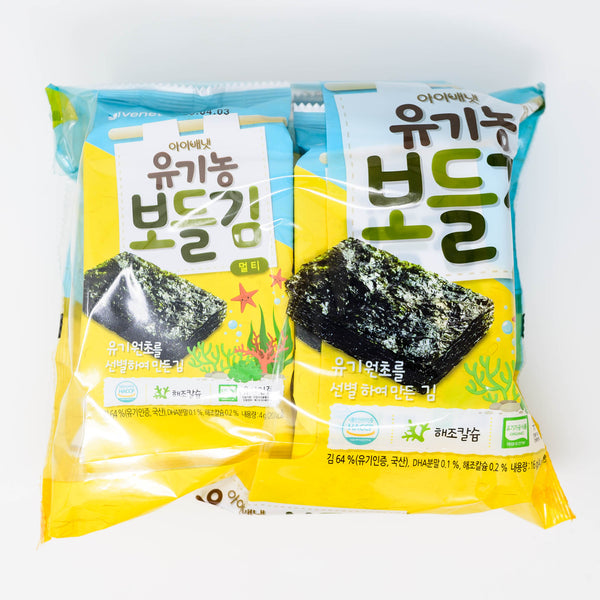 아이배냇 유기농 보들김 - ORGANIC SEASONED LAVER SEAWEED SNACK (4g X 4 packs)