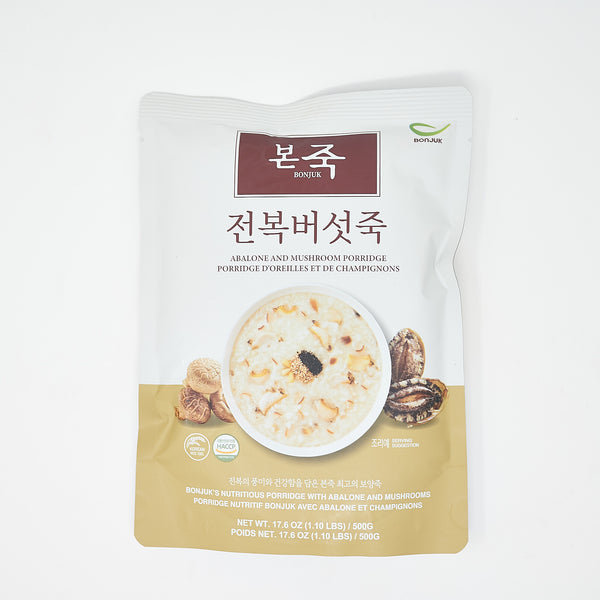 본죽 전복 버섯죽 - Bonjuk Abalone and Mushroom Porridge (17.6 oz)