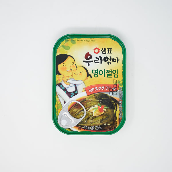 샘표 우리엄마 명이 절임 - Alpine Leek Leaves Pickled in Soy Sauce (70g)
