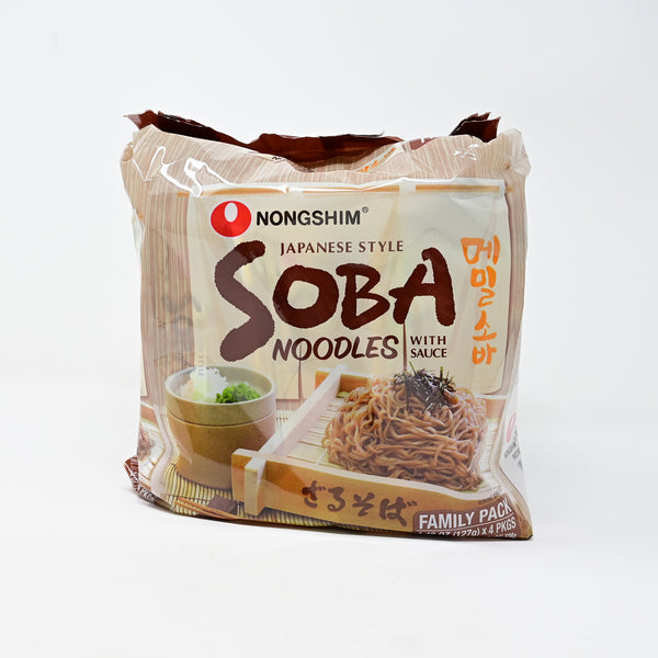 농심 메밀 소바 - SOBA NOODLES WITH SAUCE (Easy to cook) (4packs)