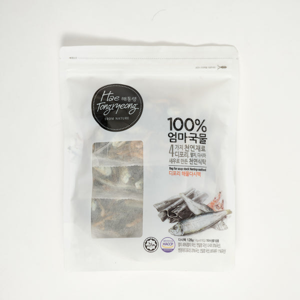 해통령 디포리 해물 다시팩 - BAG FOR SOUP STOCK HERRING-SEAFOOD (8PKGS)