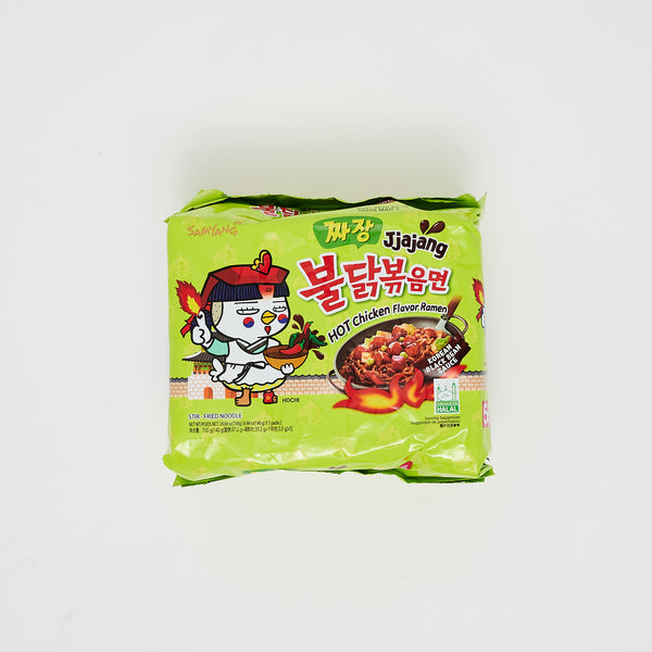 삼양 불닭 볶음 짜장 - HOT CHICKEN FLAVOR STIR FRIED RAMEN (5 PKGS)