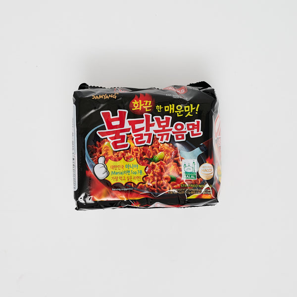 삼양 불닭 볶음면 - HOT CHICKEN FLAVOR RAMEN (5 PKGS)