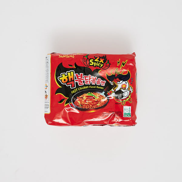 핵 불닭 볶음 면 - HOT CHICKEN FLAVOR RAMEN 2X SPICY (5 PKGS)