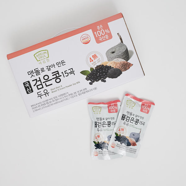 100% 국산 검은콩 15곡두유 (180ml X 15ea) - BLACK BEAN SOY MILK