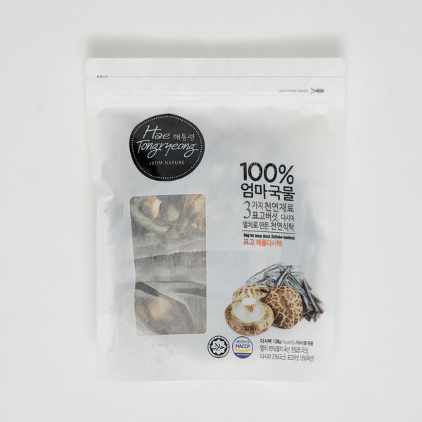 해통령 표고 해물 다시팩 - BAG FOR SOUP STOCK SHIITAKE-SEAFOOD (8PKGS)