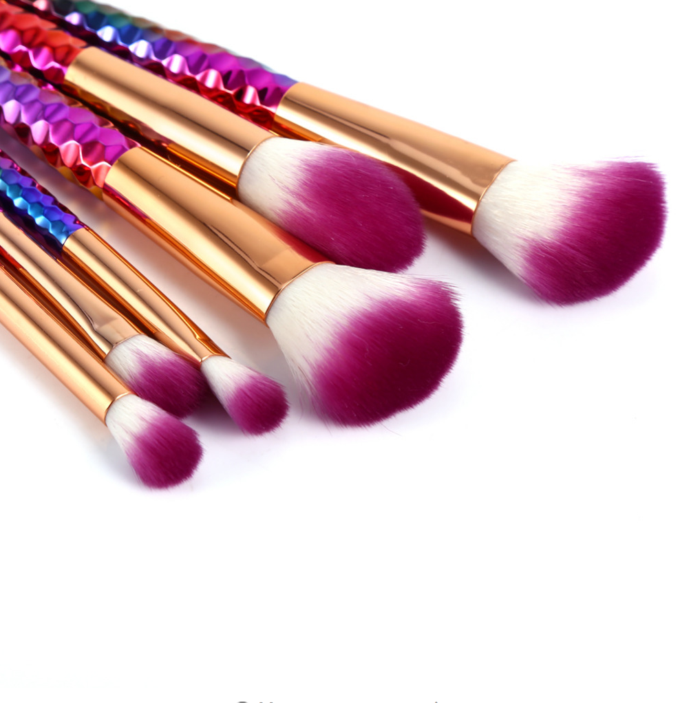 Rainbow Makeup Brush Set (6 pcs)