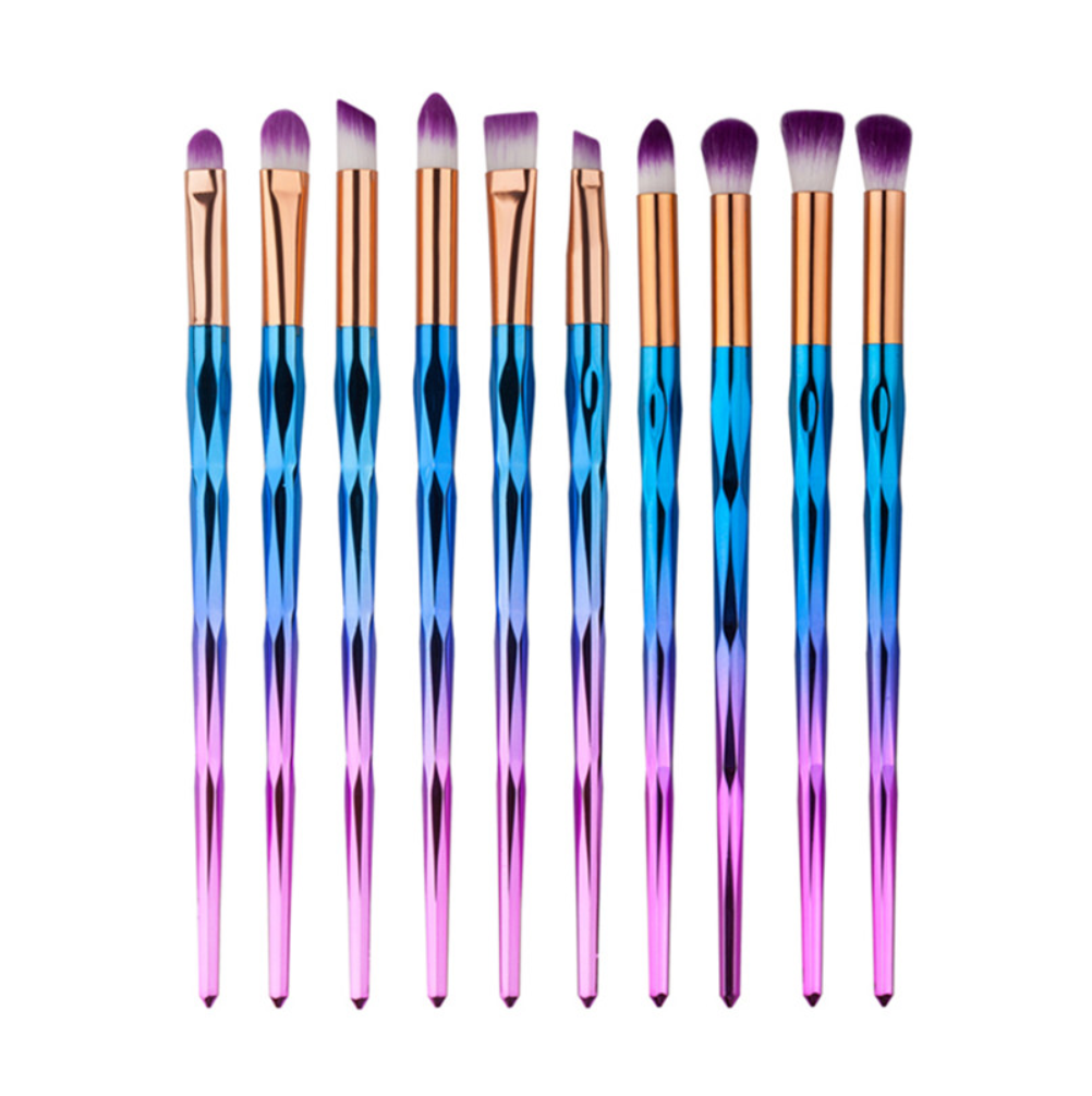 Rainbow Eye Makeup Brushes (10 pcs)