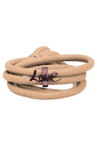 taupe leather brown charm