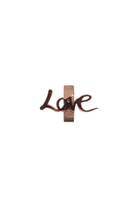 brass love charm