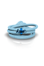 Load image into Gallery viewer, sky leather blue charm