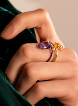Load image into Gallery viewer, Snake Amethyst Ring