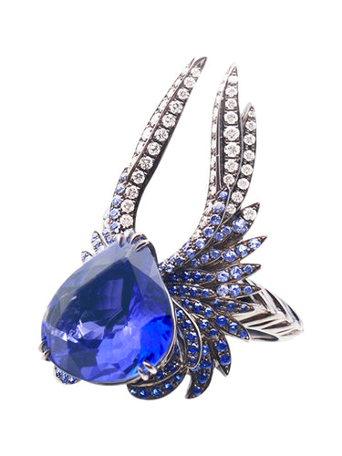 Heartbreaker Ring with Tanzanite