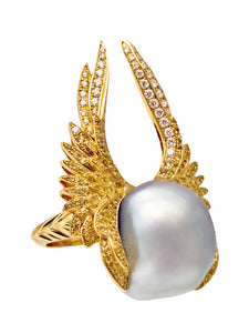 Heartbreaker Ring with South Sea Pearl