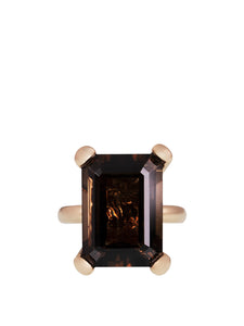 The Simple Ring with Smoky Quartz