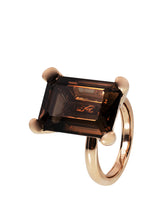 Load image into Gallery viewer, The Simple Ring with Smoky Quartz