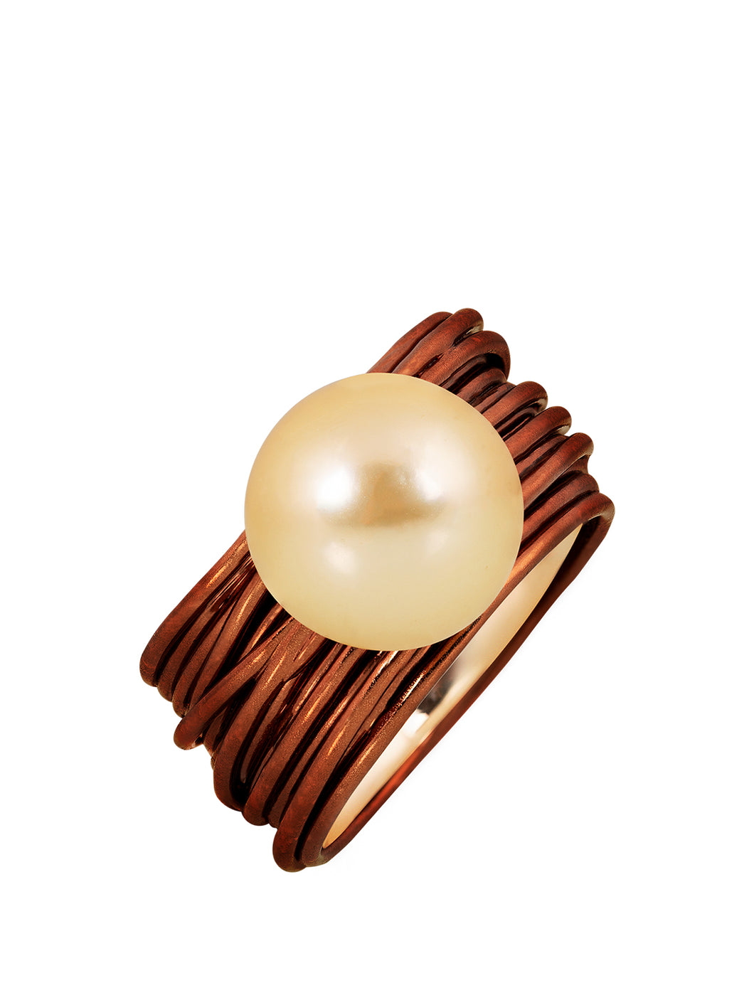 The Wire Ring with South Sea Pearl