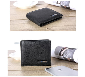 The Smart Anti Lost Wallet - Genuine Leather Bluetooth GPS Tracking for IOS or Android