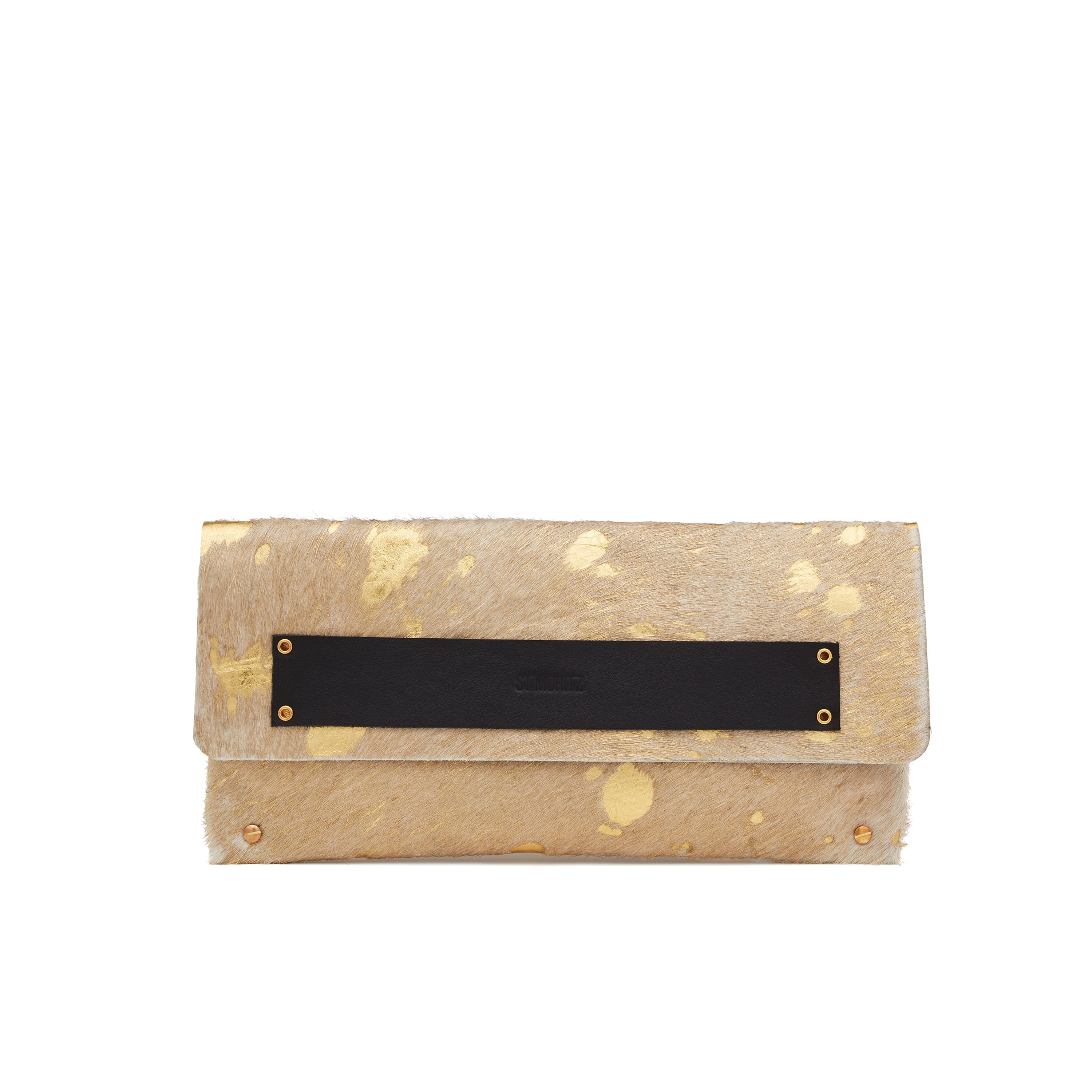 The Classic Clutch in Golden Cowhide