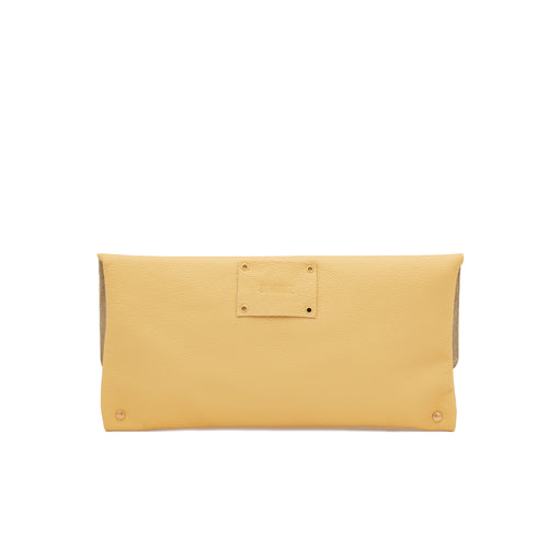 The Classic Clutch in Butter Yellow