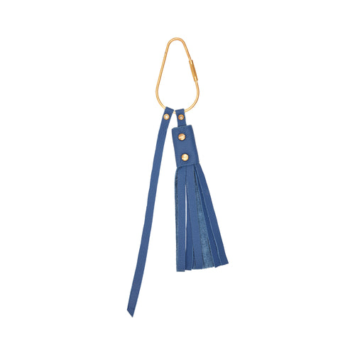 The Poppy Key Ring in Cobalt Blue
