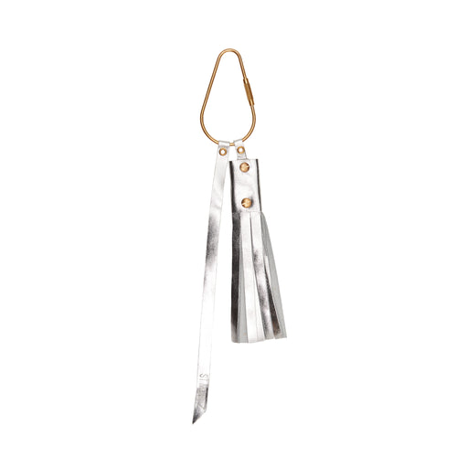 The Poppy Key Ring in Space Silver