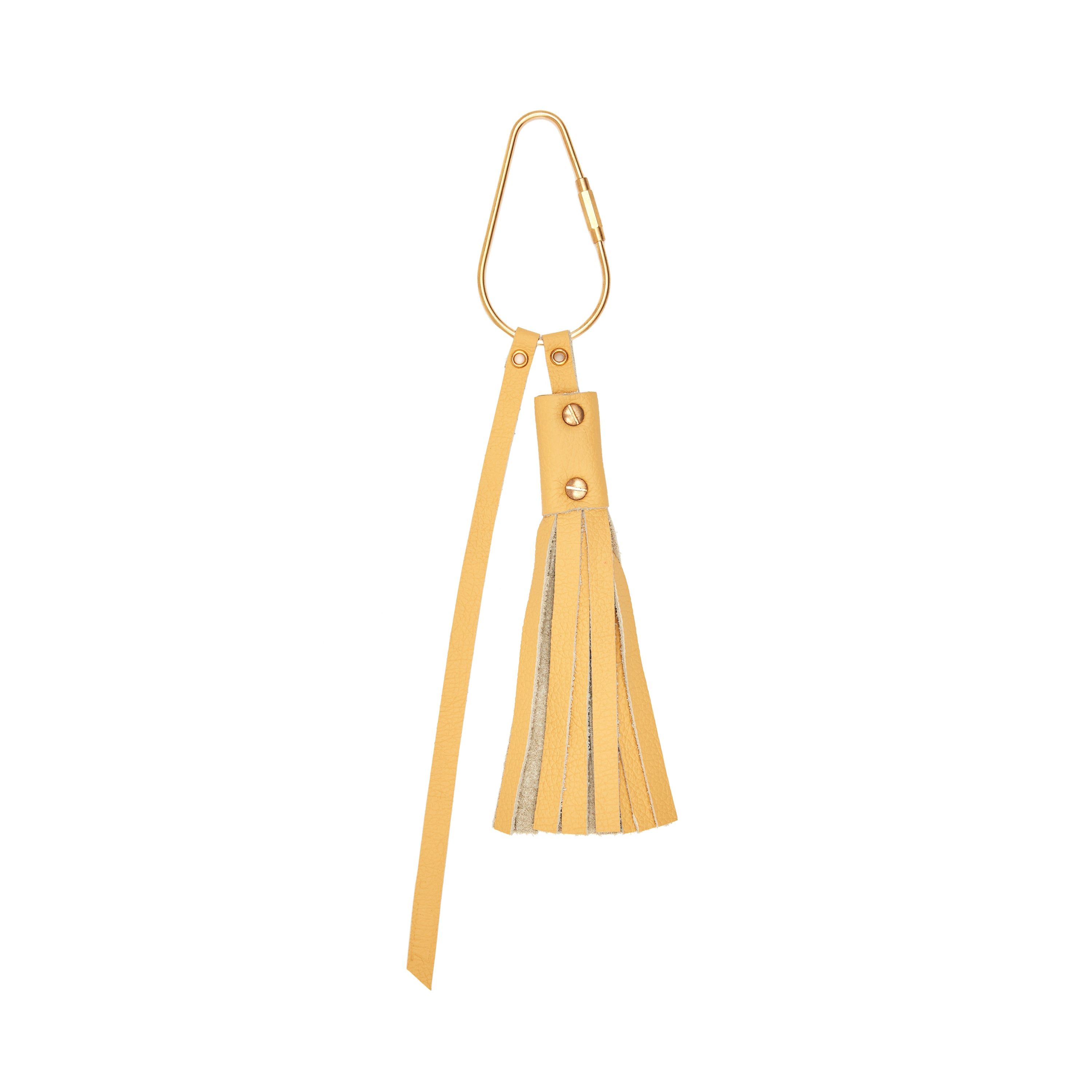The Poppy Key Ring in Butter Yellow