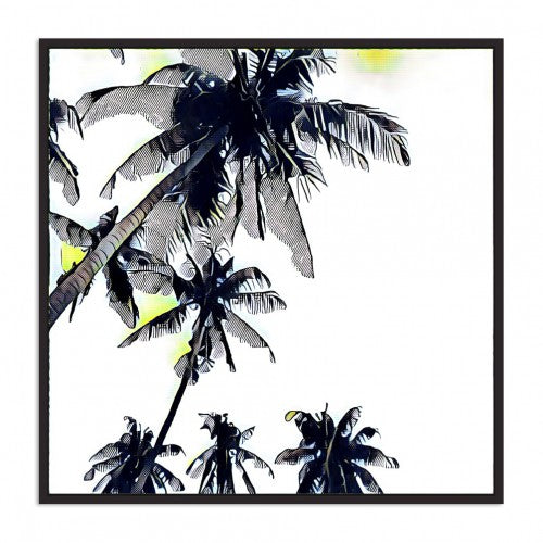 Yellow Palm Floating Frame