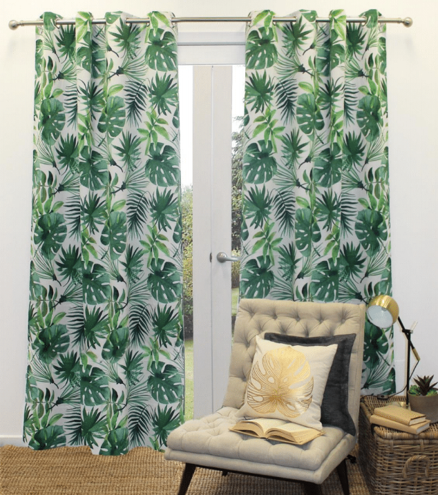 Foliage Eyelet Curtain