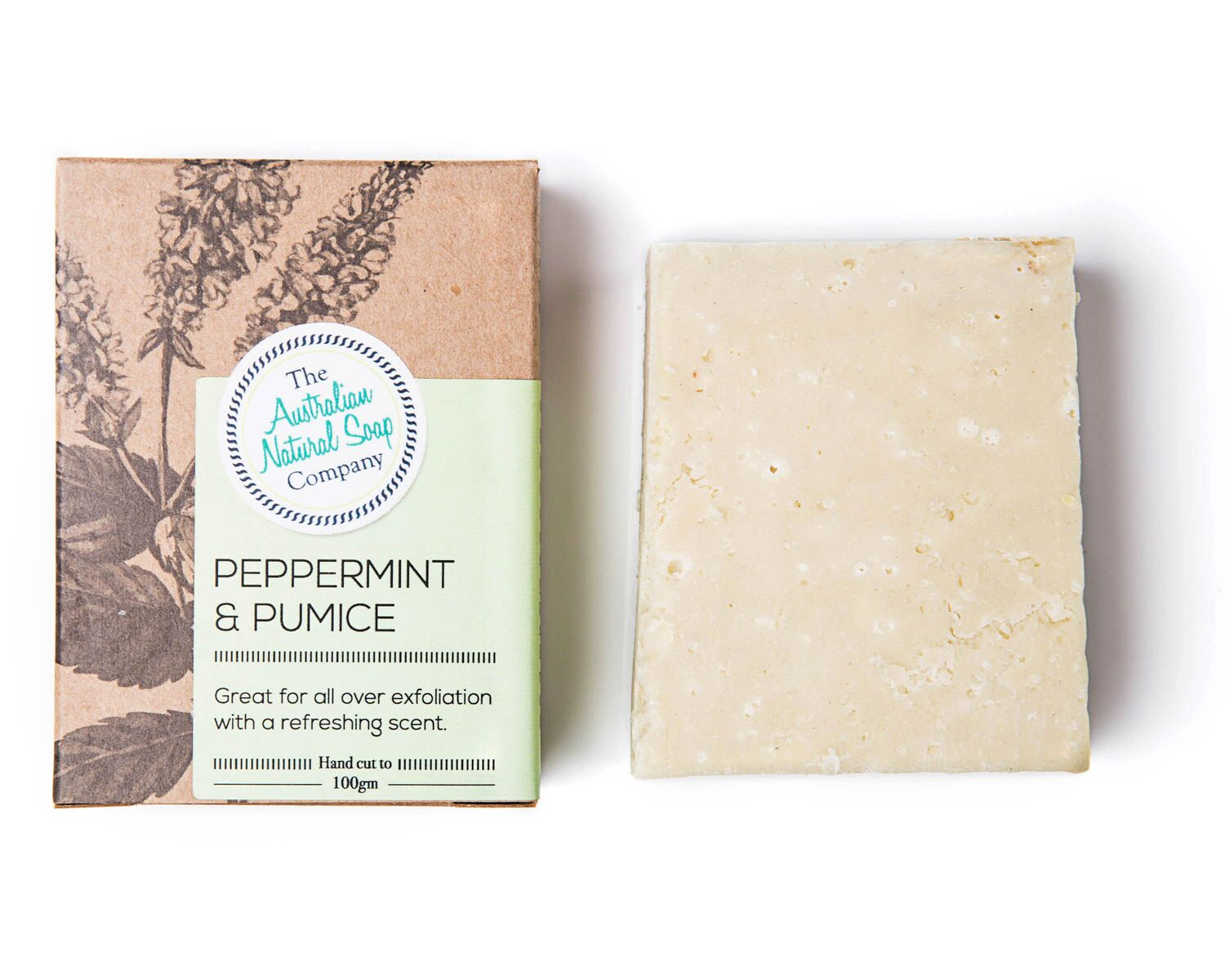 Natural Soap Bar - Peppermint & Pumice