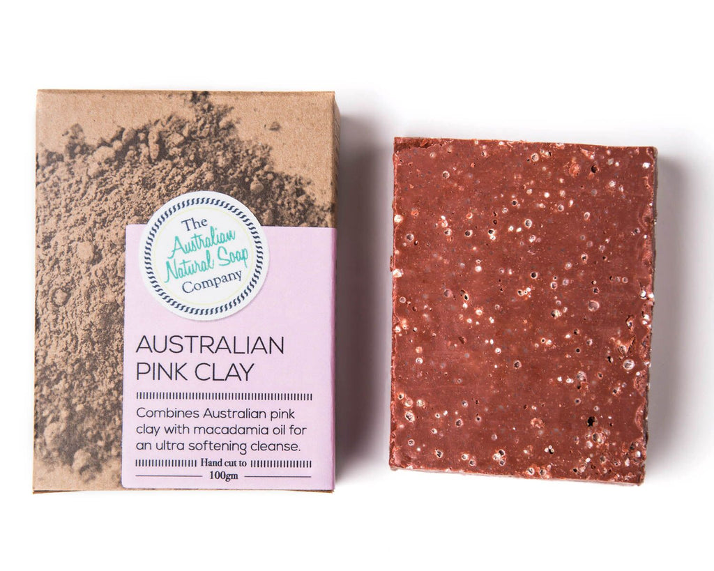 Natural Soap Bar -Pink Clay