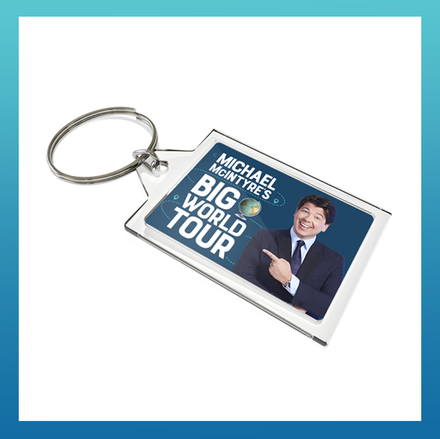 Micheal McIntyre Big World Tour Keyring