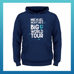 Micheal McIntyre Big World Tour Navy Hoodie