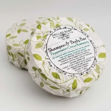 Dallas Soap Co - Peppermint Citrus Rosemary Solid Shampoo & Body Bar - All Natural