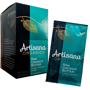 Artisana Organics - Coconut Butter Squeeze Packs 1.06 oz - 10 packets - AIP Marketplace at Vivi Puro