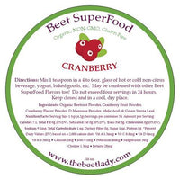 The Beet Lady - Beet Superfood Cranberry - 5.4 oz