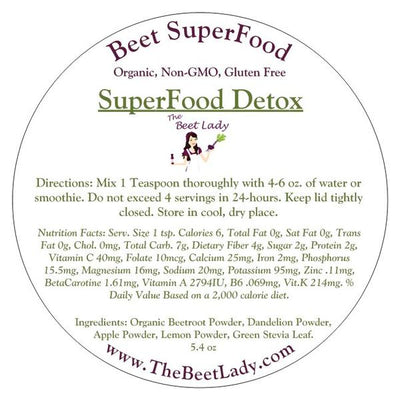 The Beet Lady -SuperFood Detox  - 5.4oz