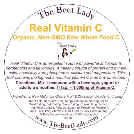 The Beet Lady -Real Vitamin C - 5 4 oz