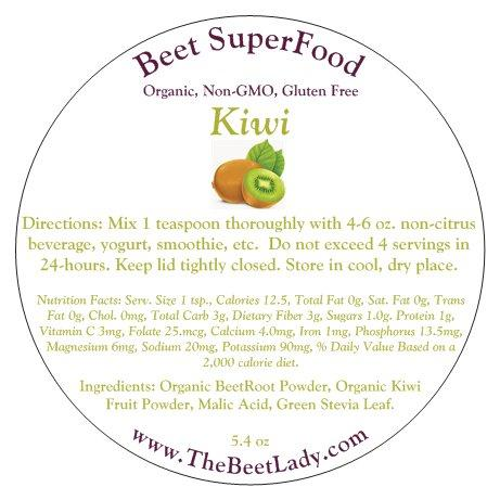 The Beet Lady - Beet SuperFood kiwi - 5.4oz