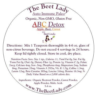 The Beet Lady - Beet SuperFood (ABC Detox) Apples, Beets & Carrots  - 5.4oz