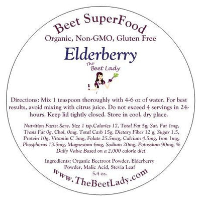 The Beet Lady - Beet SuperFood Elderberry - 5.4oz