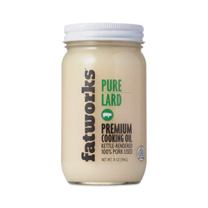 Fatworks - Pure Lard, Free Range & Pasture Raised, 14oz - AIP Marketplace at Vivi Puro