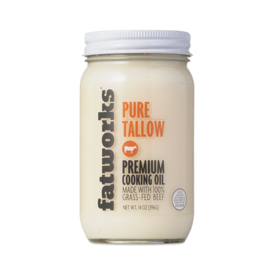 Fatworks - Grassfed Pure Tallow  - 14oz - AIP Marketplace at Vivi Puro