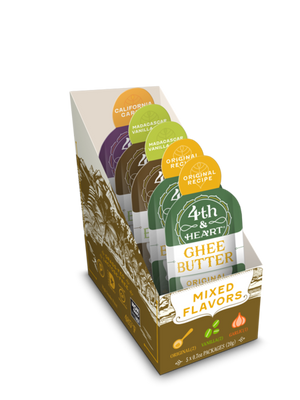 4th & Heart- Mixed Flavors - Ghee On The Go  - .08 size packs - AIP Marketplace at Vivi Puro