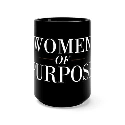 Women of Purpose Black Mug 15oz