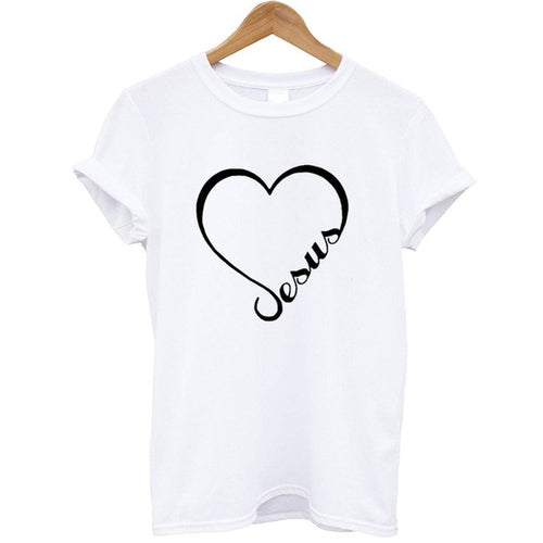 Heart-shaped Christian T-shirt