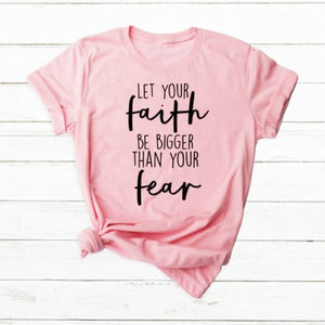 Let Your Faith Be Bigger Christian T-Shirt - Higgins Publishing