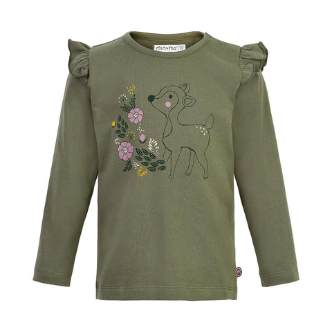 Deep Lichen Green Fawn L/S Top