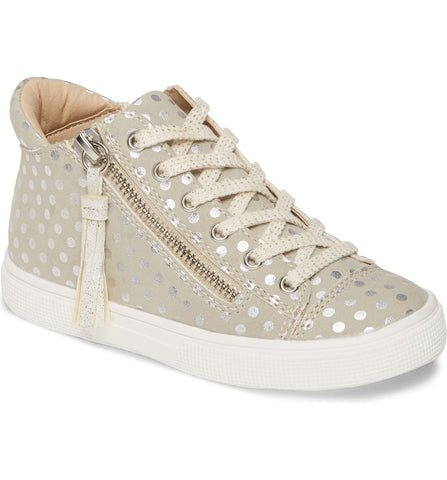 Runaround Metallic High Top Sneaker Light Grey